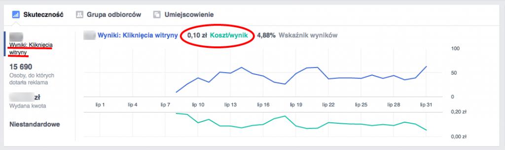 Facebook Ads 10 groszy klik